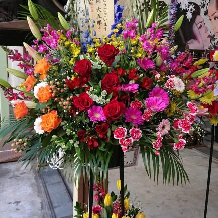 周年記念祝のスタンド花