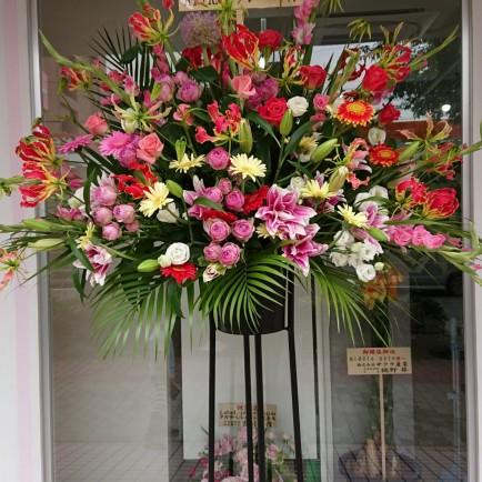 淀川区 塚本の美容室の開店祝いのスタンド花