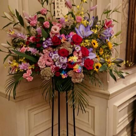 ザ・リッツカールトンホテル大阪へ就任祝いのスタンド花