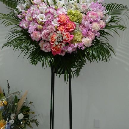 西中島の美容サロンの開店お祝いのスタンド花